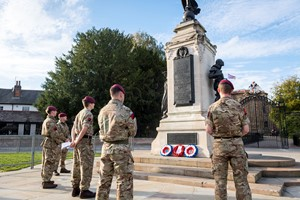 Remembrance walk for Colchester's soldiers
