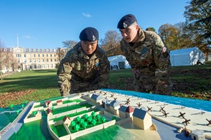 Royal Military Academy Sandhurst Officer Cadets learn from the past
