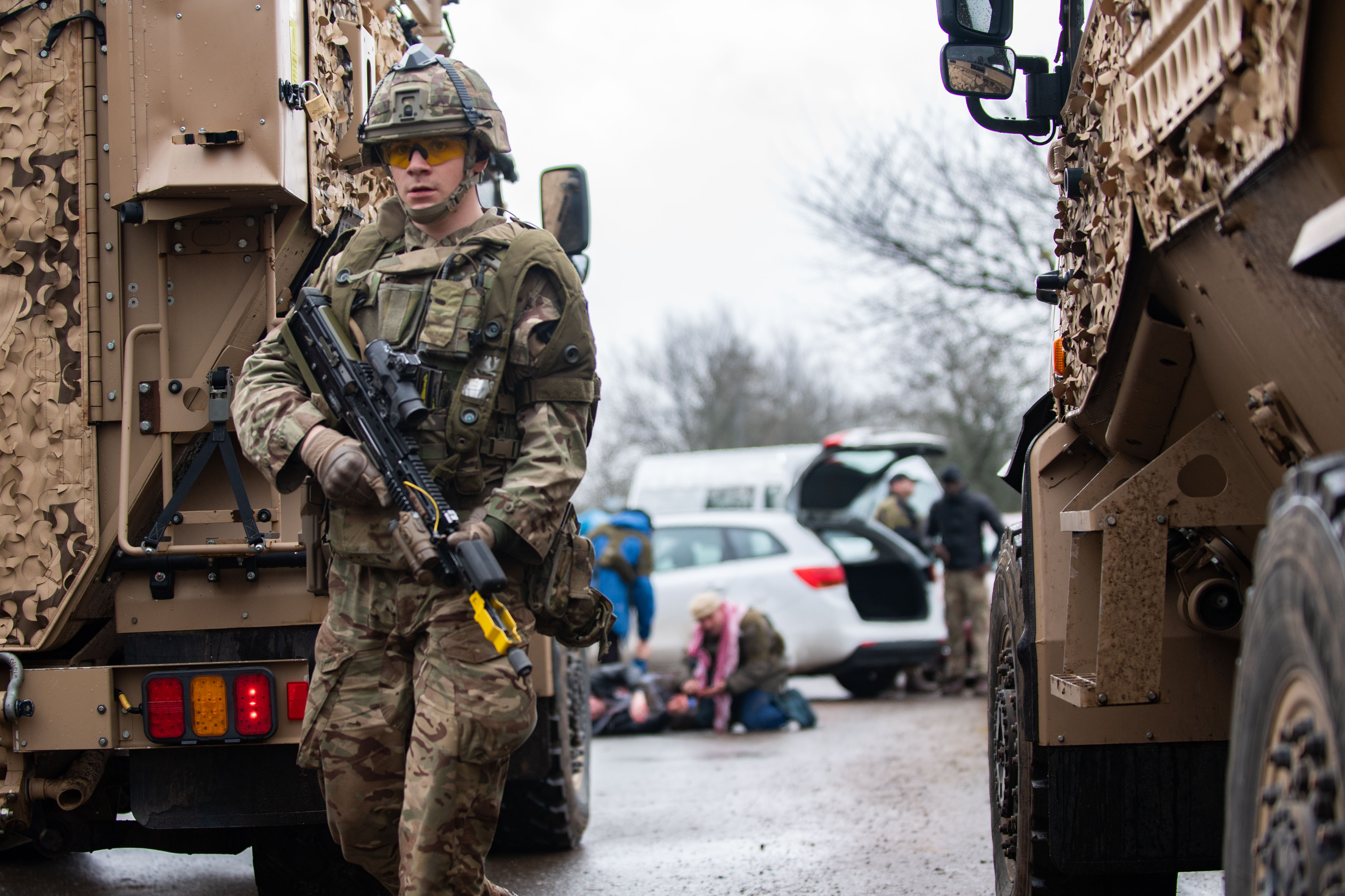 Troops complete final preparations before deploying to ...